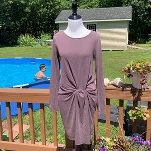 Everly It's A Date Dress Knot Front Long Sleeve